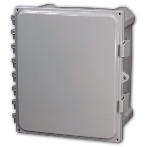 Heartland 10 x 10 x 6 inches AH10106 Enclosure Product Image : Opaque Cover Configuration – Hinged, Latched, Padlockable