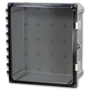 Heartland 10 x 10 x 6 inches AH10106C Enclosure Product Image : Clear Cover Configuration – Hinged, Latched, Padlockable