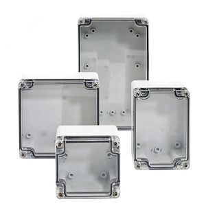 BantamBox 5 x 3 x 4 inches BBCC080810W Enclosure Product Image : Clear cover, 4 cover screws, lift off configuration