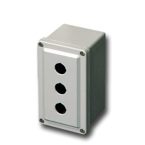 Commander 6 x 4 x 4 inches CO3PB22 Enclosure Product Image : 4 Cover Screws, Lift Off Cover, 3 Holes 22 mm