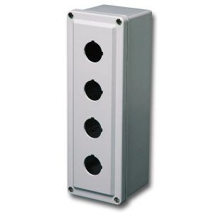 Commander 8 x 4 x 4 inches CO3PB Enclosure Product Image : 4 Cover Screws, Lift Off Cover, 3 Holes 30 mm