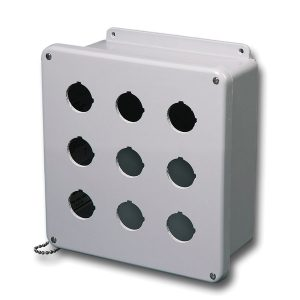 Commander 6 x 6 x 4 inches CO4PBW Enclosure Product Image : 4 Cover Screws, Lift Off Cover, 4 Holes 30 mm
