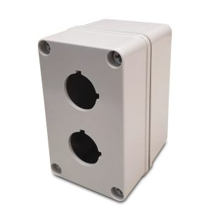 Commander 5 x 3 x 3 inches COPC2PB22 Enclosure Product Image : 4 Cover Screws, Lift Off Cover, 2 Holes 22 mm