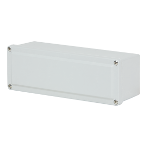 Commander 9 x 3 x 2 inches CO932 Enclosure Product Image : 4 Cover Screws, Lift Off Cover, Blank List Price – $81.14
