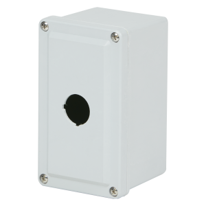 Commander 6 x 4 x 4 inches CO1PB Enclosure Product Image : 4 Cover Screws, Lift Off Cover, 1 Hole 30 mm