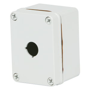 Commander 4 x 3 x 2 inches COPC1PB Enclosure Product Image : 4 Cover Screws, Lift Off Cover, 1 Hole 30 mm