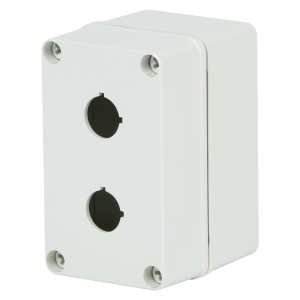Commander 5 x 3 x 3 inches COPC2PB22 Enclosure Product Image : Polycarbonate with 4 Cover Screws, Lift Off Cover, 2 Holes 22 mm