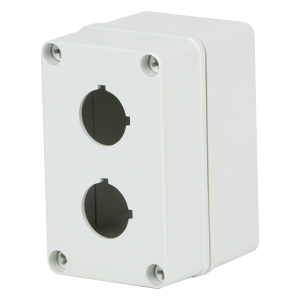 Commander 5 x 3 x 3 inches COPC2PB Enclosure Product Image : Polycarbonate with 4 Cover Screws, Lift Off Cover, 2 Holes 30 mm