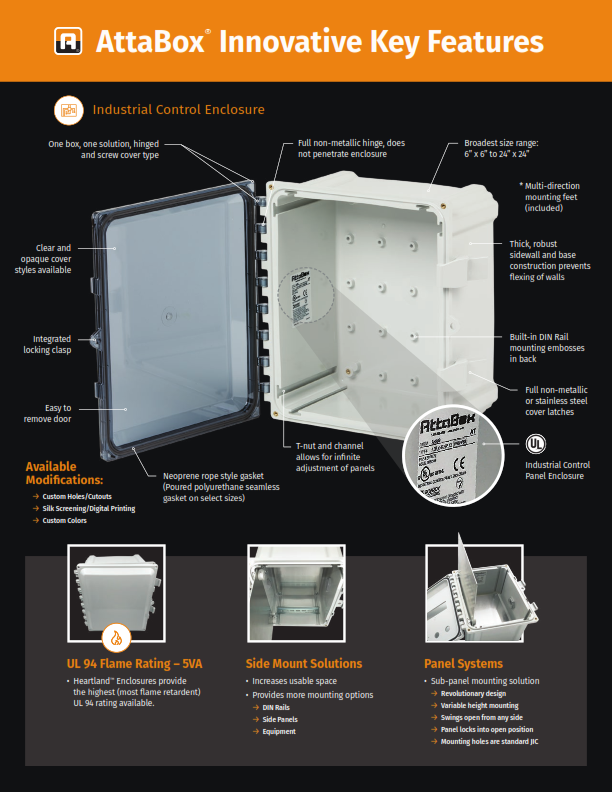 Heartland Polycarbonate Brochure - AttaBox Non-Metallic Enclosures