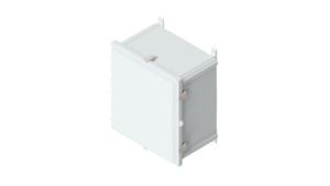 18 x 16 x 10 inches Polycarbonate Enclosure with Stainless Steel Latches – AH181610SS AttaBox Product Image : Opaque Cover Configuration (Hinged, Latched, Padlockable)