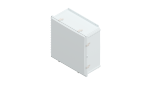 24 x 24 x 10 inches Polycarbonate Enclosure with Stainless Steel Latches – AH242410SS AttaBox Product Image : Opaque Cover Configuration (Hinged, Latched, Padlockable)