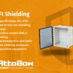 EMI/RFI shielding for polycarbonate enclosures.