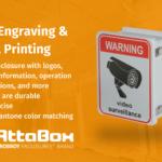 Enclosure design printing and engraving