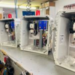 populated polycarbonate electrical enclosures for pumps