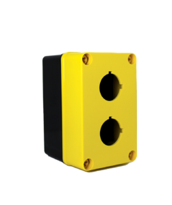Yellow Commander 5 x 3 x 3 inches YW-COPC2PB Enclosure Product Image : Polycarbonate with 4 Cover Screws, Lift Off Cover, 2 Holes 30 mm Molded in yellow and black. List Price – $84.17