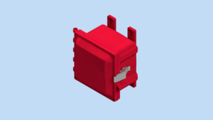 6 x 6 x 4 inches Red Polycarbonate Enclosure with Stainless Steel Latches – RD-AH664SS AttaBox Product Image : Red Enclosure – Opaque Cover Configuration (Hinged, Latched, Padlockable) List Price – $198.23