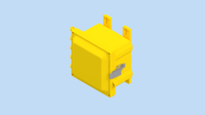 6 x 6 x 4 inches Yellow Polycarbonate Enclosure with Stainless Steel Latches – YW-AH664SS AttaBox Product Image : Yellow Enclosure – Opaque Cover Configuration (Hinged, Latched, Padlockable) List Price – $198.23